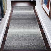 """LR Home Jewel Gray Distressed Ombre Runner Rug ( 2'8"""" x 7' ) - 2'7"""" x 8'"""
