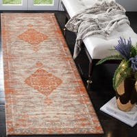 "LR Home Jewel Lively Victorian Rust Poly-Cotton Blend Rug - 2'8"" x 7'"
