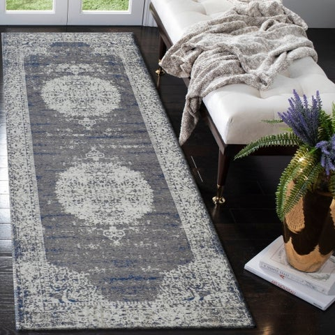 """LR Home Jewel Oriental Imperial Natural/ Beige Poly-Cotton Blend Rug - 2'8"""" x 7'"""