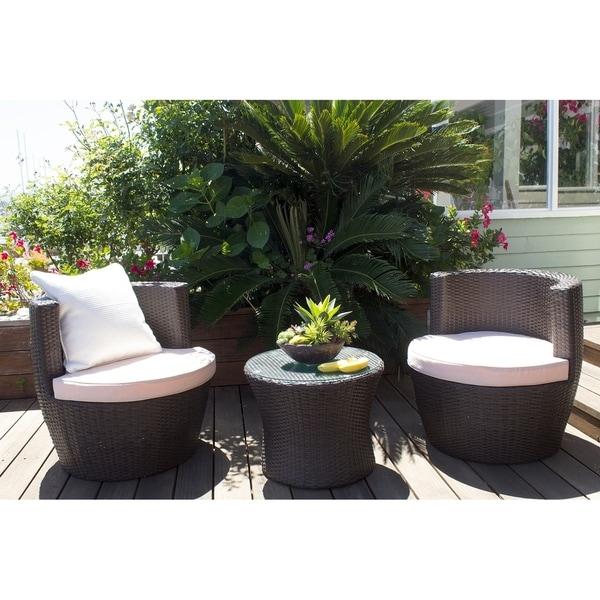 Shop Ibiza 2 Piece Outdoor Barrel Chair And End Table Set