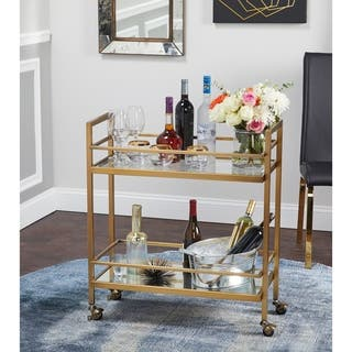 simple living manhattan bar cart - Kitchen Carts