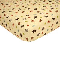 Sweet Jojo Designs Jungle Time Animal Print Fitted Crib