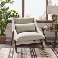 INK+IVY Boomerang Brown Lounge with Removable Back Pillow