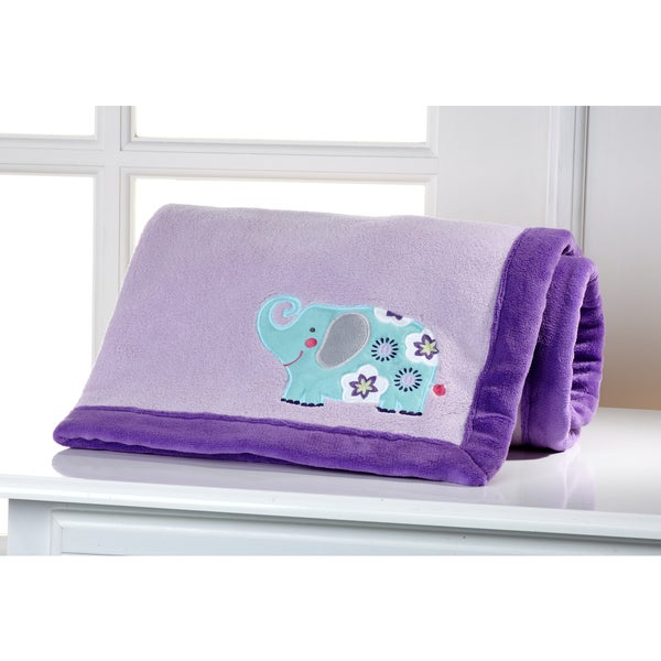 Carter's - Zoo - Appliqued w/Coral fleece border Blanket