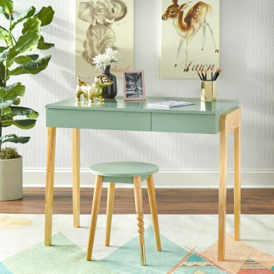 Simple Living Riley Desk and Stool Set