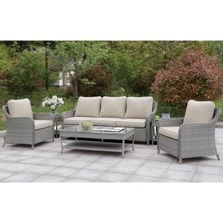 Furniture of America Lloyd Contemporary 6-piece Outdoor Patio Set
