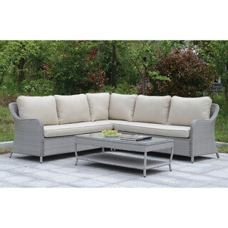 Furniture of America Lloyd Contemporary Outdoor 2-piece Patio Sectional Set