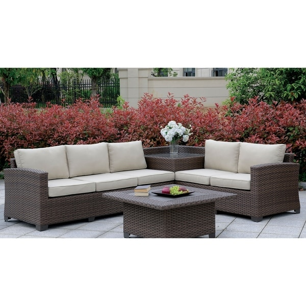 225 & Langston Contemporary Outdoor Patio Sectional with Corner Table by ...
