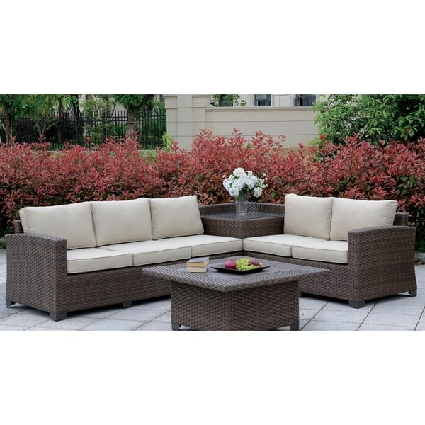 Furniture Of America Lis Outdoor Patio Sectional With