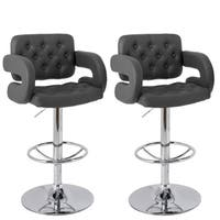 Strick & Bolton Astaire Dark Grey Bar Stool (Set of 2)