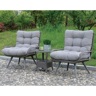 Furniture of America Elliot Contemporary Grey Patio Arm Chair (Set of 2)
