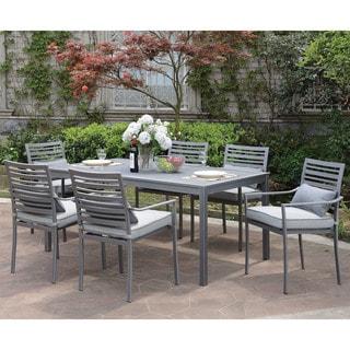 Furniture of America Benson Contemporary Grey Outdoor Patio Table