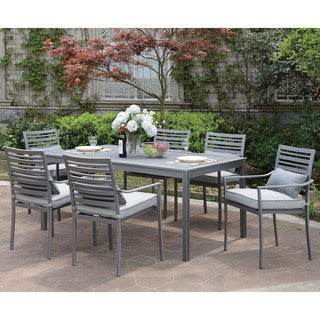 Furniture of America Benson Contemporary Grey Outdoor Patio Table