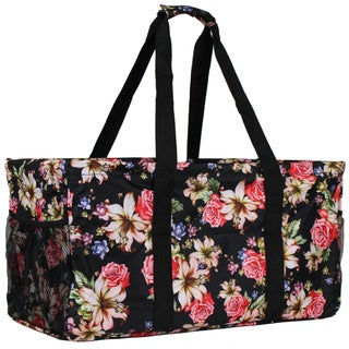 World Traveler Flowers Household Essential Collapsable Multi-purpose Tote Bag