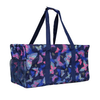 World Traveler Butterfly Household Essential Collapsable Multi-purpose Tote Bag
