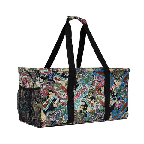 World Traveler Paisley Household Essential Collapsable Multi-purpose Tote Bag