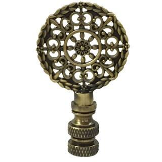Royal Designs Mandala Filigree Lamp Finial for Lamp Shade- Antique Brass