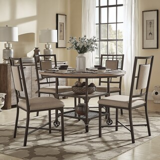 Dania Industrial Round Dining Set by iNSPIRE Q Classic (2 options available)