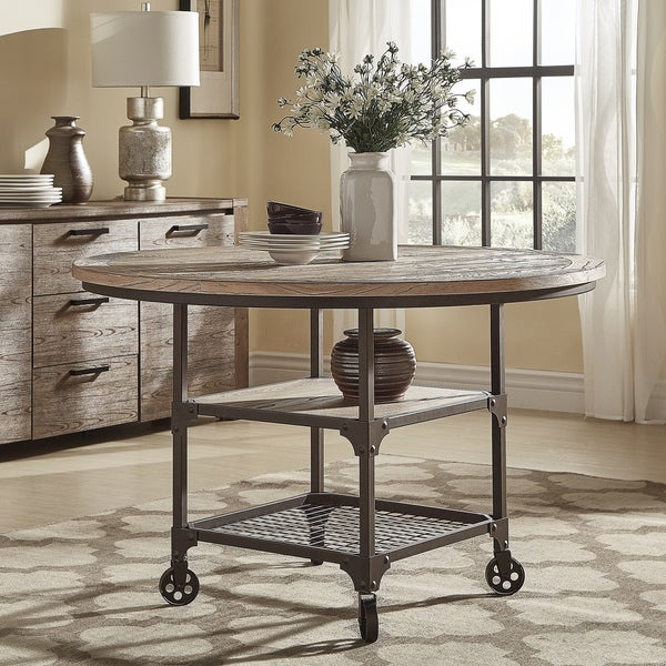 Industrial Round Dining Table: Shop Dania Industrial Round Dining Table By INSPIRE Q