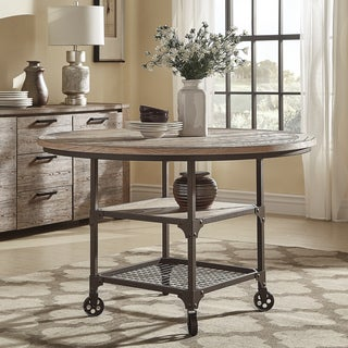 Dania Industrial Round Dining Table by iNSPIRE Q Classic