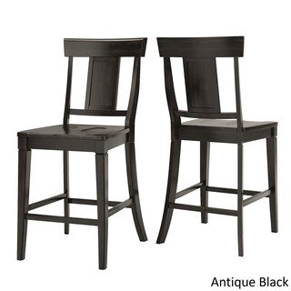 Eleanor Antique Black Counter Height Panel Back Dining Set by iNSPIRE Q Classic (More options available)