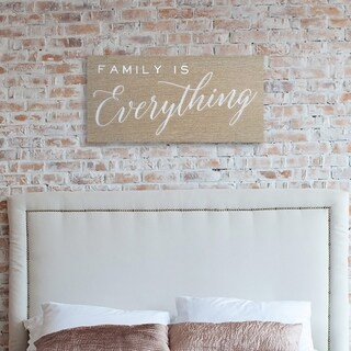 """Wynwood Studio """"Family is Everything"""" Embroidered Canvas"""