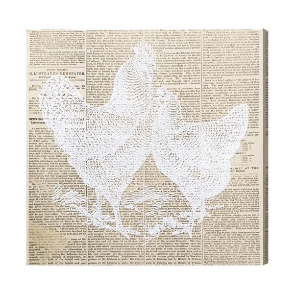 "Wynwood Studio""Chicken and Hen Newspaper"" Canvas - beige"