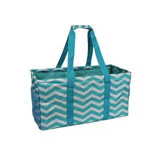 World Traveler Chevron Household Essential Collapsable Multi-purpose Tote Bag