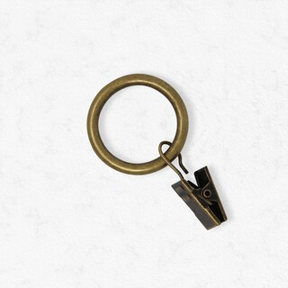 Chicology Clip Rings, Fits Rods 3/4-in. Diameter, Curtain & Drapery Hardware, Essential - Pack of 12 (3 options available)