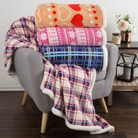 Windsor Home Sherpa Fleece Throw