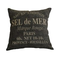 """AM Home Sel De Mer Print Pillow, Feather Insert, 20"""" x 20"""""""