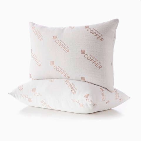 Essence of Copper Copper Infused Antimicrobial Jumbo Bed Pillow 2 Pack - White