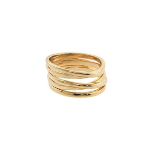 Eternally Haute 14k Gold plated Twister Ring