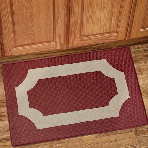 "Marsala Printed Anti-Fatigue Kitchen Mat (18""x30"") Marsala/Tan"