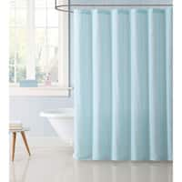 Truly Soft Everyday Printed Gingham Shower Curtain