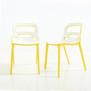 Tondo Two-toned Polypropylene Dining Chair (Set of 2)