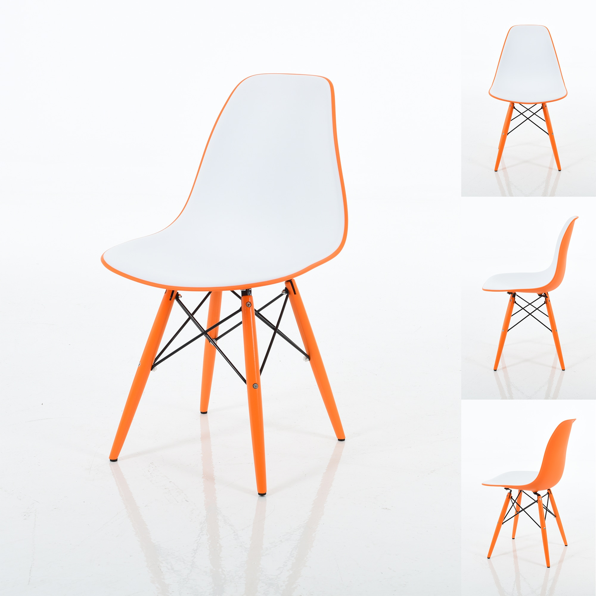 Fabulous Branwen Two Toned Polypropylene Dining Chairs With Wood Legs Set Of 2 Gmtry Best Dining Table And Chair Ideas Images Gmtryco