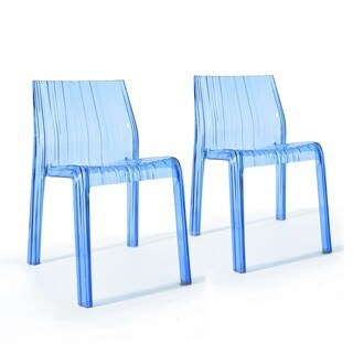 Erlinda Transparent Acrylic Dining Chair (Set of 2)
