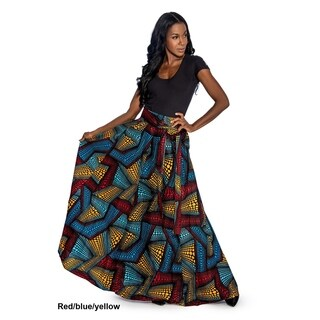 Giovanna Signature Dashiki Style Cotton Wax Print Maxi Skirt