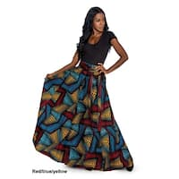 Giovanna Signature Dashiki Style Cotton Wax Print Maxi Skirt