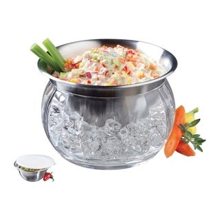 Prodyne Stainless Steel Bowl and Dip Cup on Ice 1