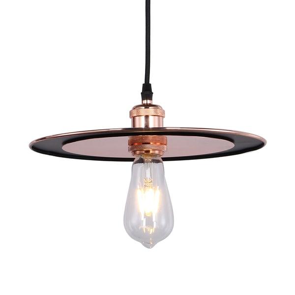 Kursh Copper Disk 1-light Pendant Pendant incl Edison Bulb