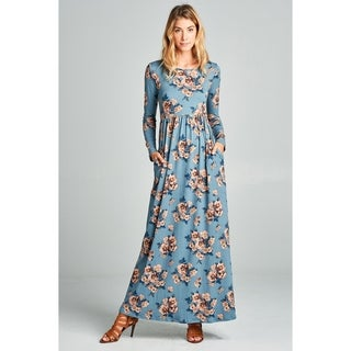 Spicy Mix Pernille Floral Long Sleeved Maxi Dress + Pockets