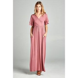 Spicy Mix Elettra Ruffle Sleeve Maxi Dress + Pockets