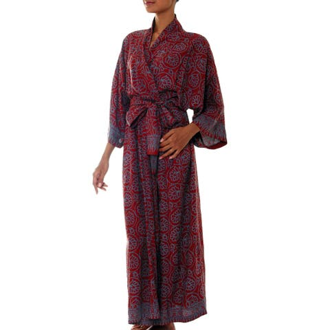 Rayon 'Morning Aster' Robe