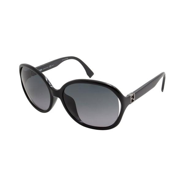 169f09737a Shop Fendi Women s FF 0032 F S Black Sunglasses - Free Shipping ...