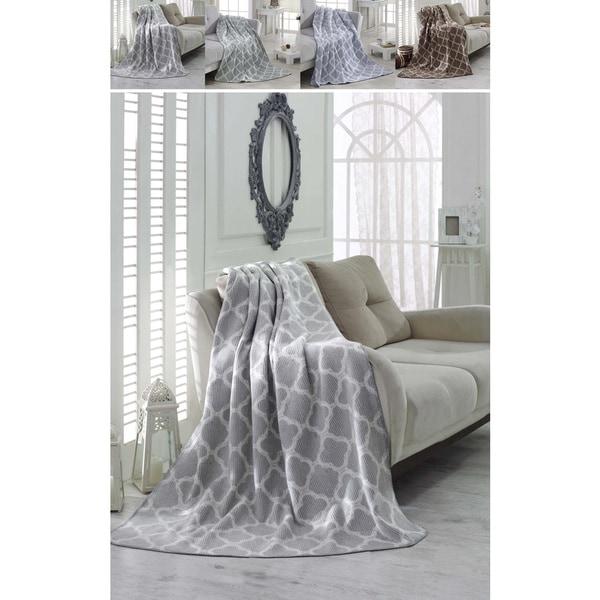 Shop Ottomanson Bed Blankets Plush Cotton Throw Soft