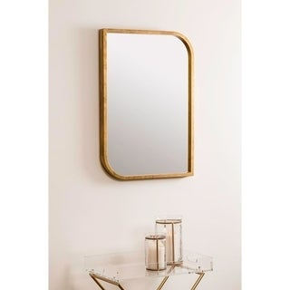 Andy Mid-Century Gold Wall Mirror