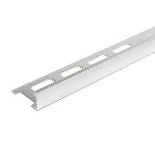 8-foot Polished Chrome Finish Aluminum Thin Edge Tile Trim (Set of 10)
