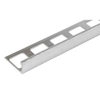 8-foot Brushed Nickel Finish Aluminum Thin Edge Tile Trim (Set of 10)